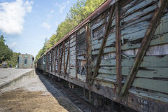 Old rusted train at trainstation hombourg Stock Image