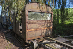 Old rusted train at trainstation hombourg Royalty Free Stock Photography