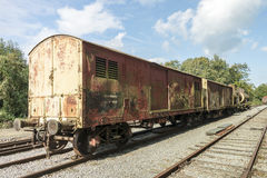 Old rusted train at trainstation hombourg Stock Photos