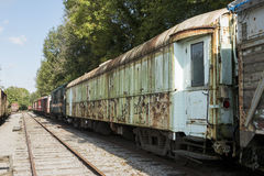 Old rusted train at trainstation hombourg Stock Photography