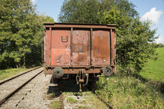 Old rusted train at trainstation hombourg Stock Photo
