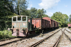 Old rusted train at trainstation hombourg Royalty Free Stock Photos