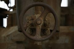 Old Rusted Valve From A Factory stock photo