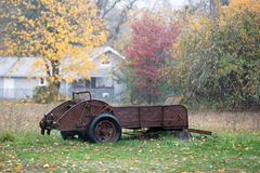 Old rusted vintage agricultural equipment royalty free stock image
