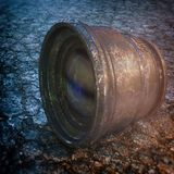 Old Rusted Vintage Camera Lens Stock Images