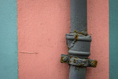 Old rusted water pipe detail Royalty Free Stock Image