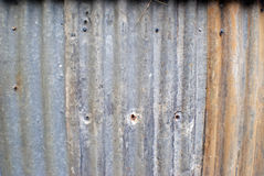 Old rusted weathered corrugated iron Stock Photos