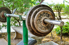 Old rusted Weight bar Stock Photography
