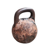 Old rusted weight isolated on white Stock Photos