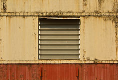 Old rusted window of Covered Goods Wagon Royalty Free Stock Photo