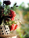 Old rustic abandoned decorative hanging hand crafted vase Royalty Free Stock Photo