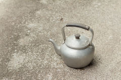 Old rustic aluminum kettle Royalty Free Stock Photo