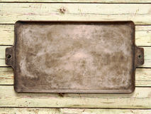 Old rustic baking sheet Royalty Free Stock Images