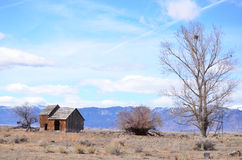 Old rustic barn. This is a old rustic barn out in the middle of now where Stock Photography