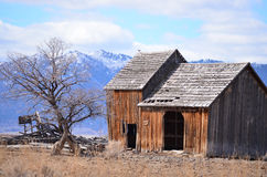 Old rustic barn. This is a old rustic barn out in the middle of now where Stock Images
