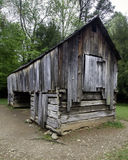 An Old Rustic Barn. A Weathered Barn on an early Spring morning in the Smoky Mountains Royalty Free Stock Photos