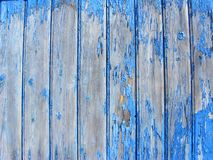 Old rustic blue wooden wall stock photo