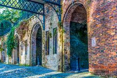 Old Brick Arches. Old Rustic Brick Arches in Savannah Georgia Royalty Free Stock Photos