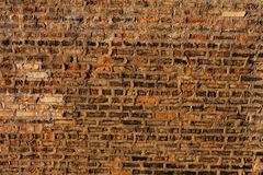 Old Rustic Brick Wall Background stock image