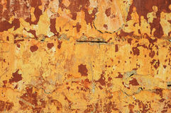Old rustic brick wall with cracked stucco Royalty Free Stock Image