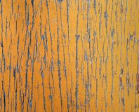 Old rustic brown vintage wooden table with scratched and peeling paint surface royalty free stock photo