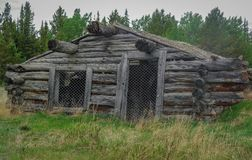 Old, Rustic Log cabin  in Canada Royalty Free Stock Photos