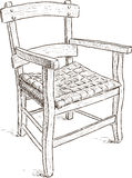 Old rustic chair Stock Image