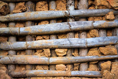 Old rustic cob wall Stock Photography