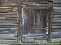 Old rustic door. Village life. old wooden door. large fragment Stock Photography