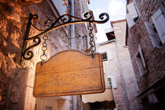 Old rustic entrance wooden board stock photography