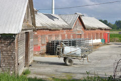 Old and Rustic Farm Buildings Royalty Free Stock Photography