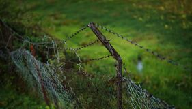 Old Rustic Fence of of Tenzing–Hillary Airport Runway, Lukla N. Epal stock image