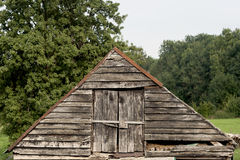 Old rustic hay loft. In the countryside Stock Image