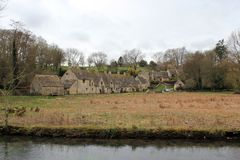 Old houses in english countryside Stock Photo