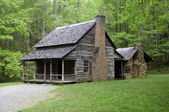 An Old Rustic Homestead. An old homestead on an early Fall morning in the Smoky Mountains Royalty Free Stock Photo