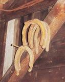 Old rustic horseshoe Royalty Free Stock Image