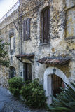 Old rustic house exterior in Italy Stock Photos