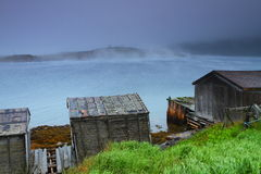 Old rustic huts Stock Photo