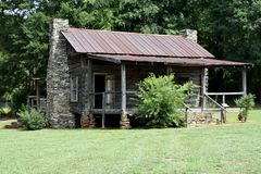 Old Rustic Log Cabin Stock Images