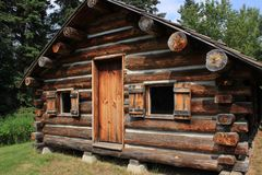 Old Rustic Log Cabin in Minnesota. Woods Royalty Free Stock Photos