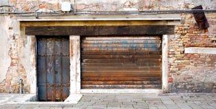 Old and rustic metal doors Stock Photo