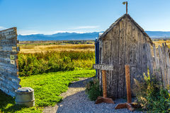 Old Rustic Outhouse Stock Photography