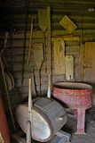 Old rustic peasant farmhouse laundry Royalty Free Stock Photography