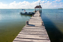 Old Rustic Pier in Mexico Royalty Free Stock Photography