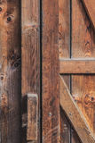 Old Rustic Pine Wood Barn Door Stock Photo