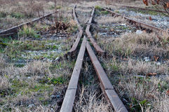 Old rustic railway intersection Stock Photography