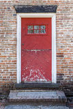 Old Rustic Red Door Stock Image