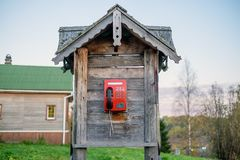 Old rustic russian house from logs stock photos