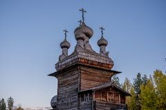 Old rustic russian house from logs royalty free stock photography