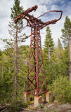 Old Rustic Ski Lift Royalty Free Stock Images